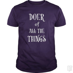 SunFrog-Busted Heflin Design Classic Guys / Unisex Tee / Purple / S Doer of Things