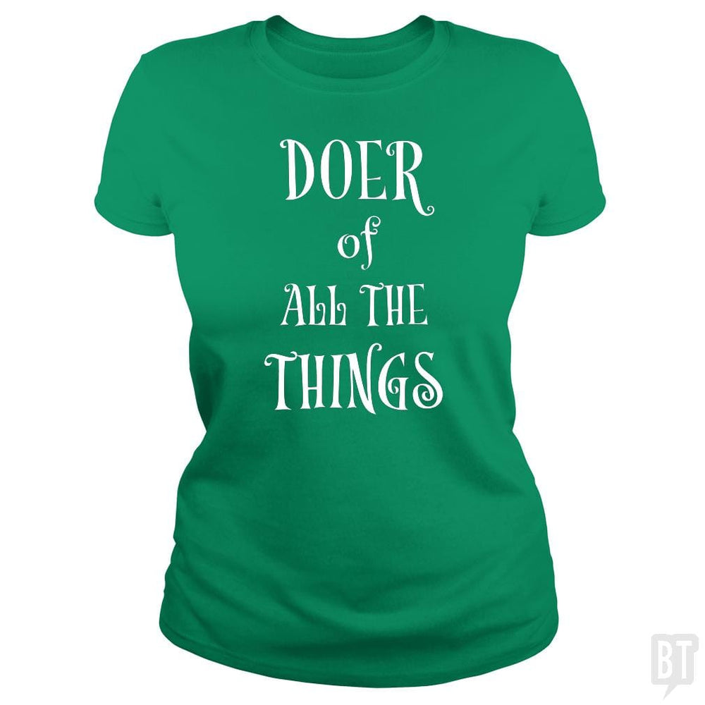 SunFrog-Busted Heflin Design Classic Ladies Tee / Irish Green / S Doer of Things