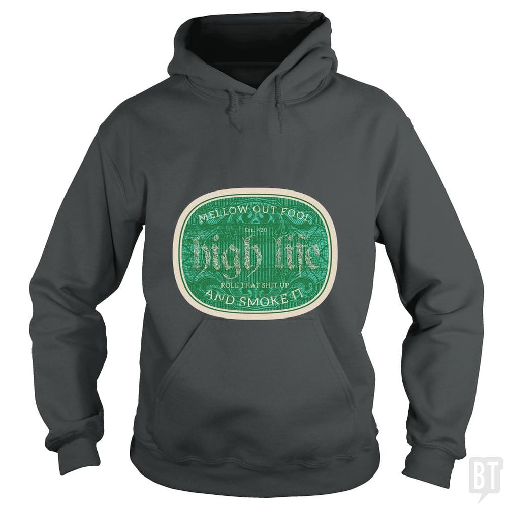 SunFrog-Busted Heflin Design Hoodie / Dark Heather / S High Life
