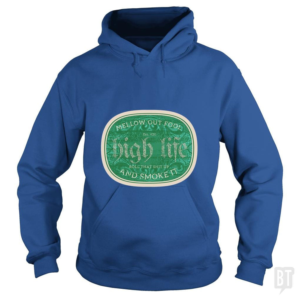 SunFrog-Busted Heflin Design Hoodie / Royal Blue / S High Life