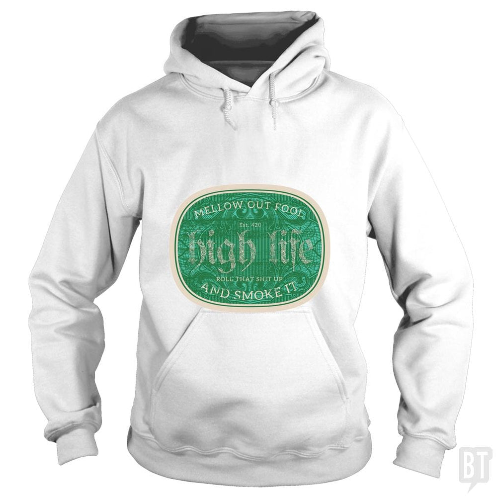 SunFrog-Busted Heflin Design Hoodie / White / S High Life