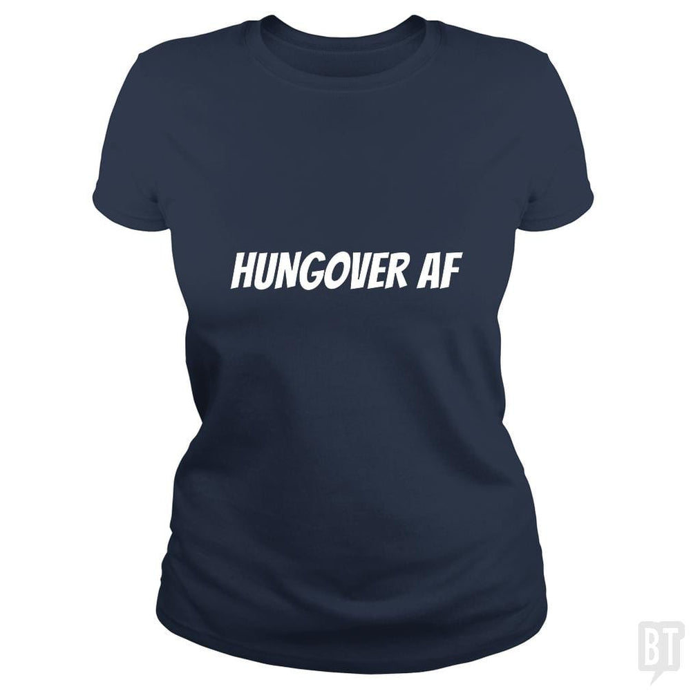 SunFrog-Busted Heflin Design Classic Ladies Tee / Navy Blue / S HungoverAF