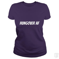 SunFrog-Busted Heflin Design Classic Ladies Tee / Purple / S HungoverAF