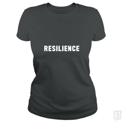 SunFrog-Busted Heflin Design Classic Ladies Tee / Dark Heather / S Resilience