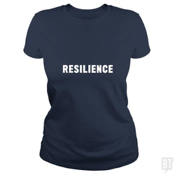 SunFrog-Busted Heflin Design Classic Ladies Tee / Navy Blue / S Resilience