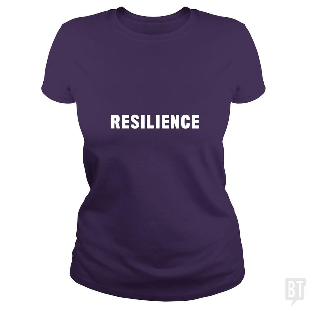 SunFrog-Busted Heflin Design Classic Ladies Tee / Purple / S Resilience