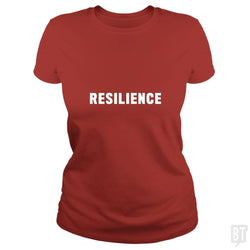 SunFrog-Busted Heflin Design Classic Ladies Tee / Red / S Resilience
