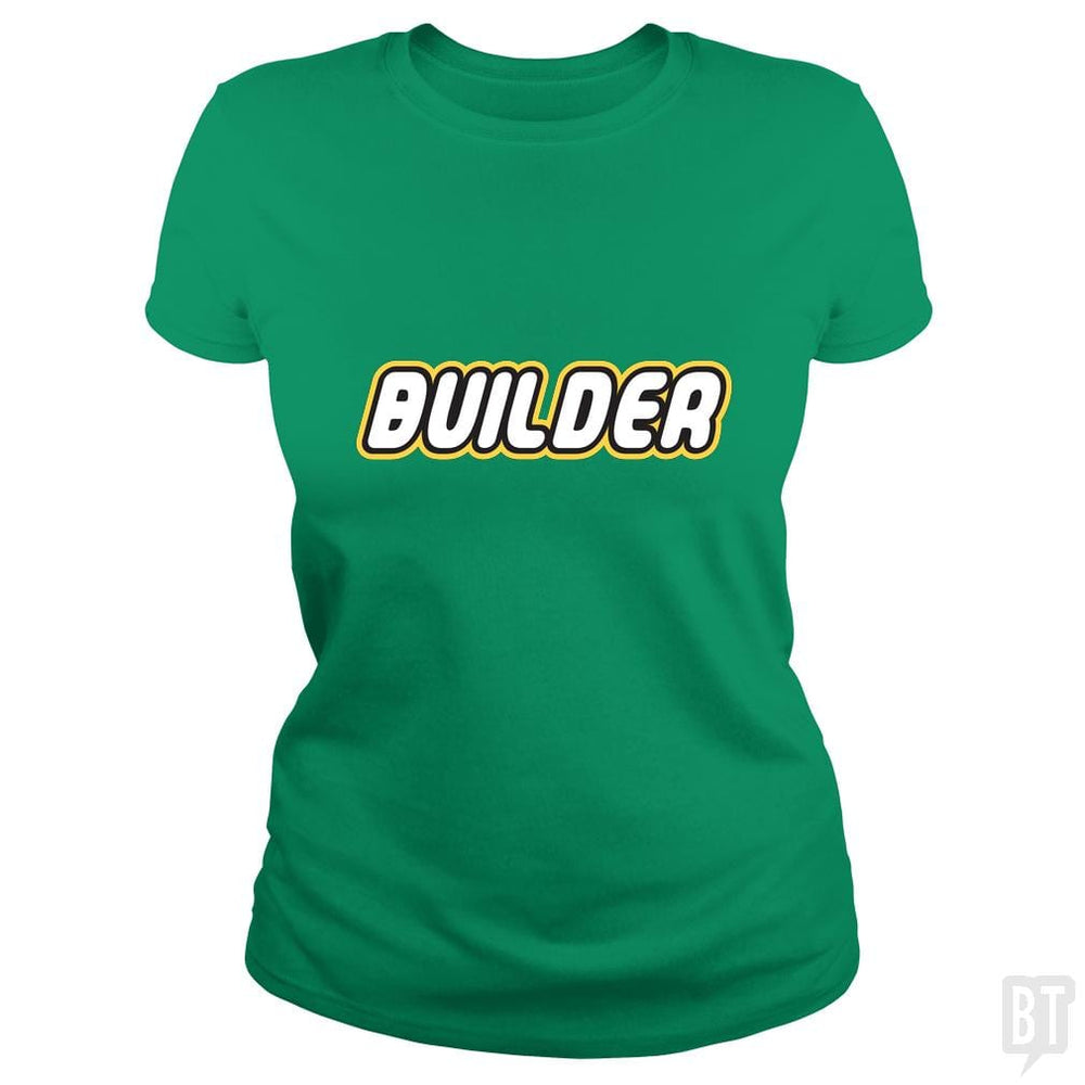 SunFrog-Busted Joefixit2 Classic Ladies Tee / Irish Green / S Builder