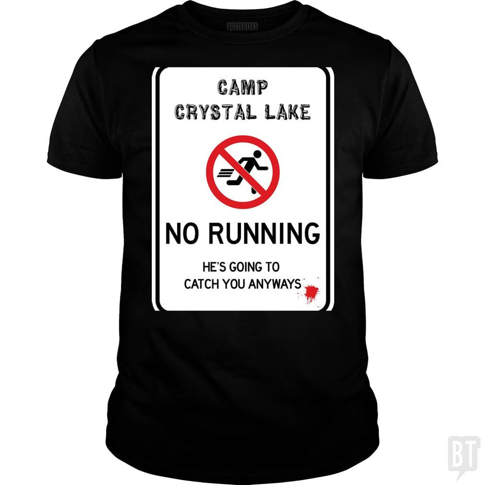 SunFrog-Busted Joefixit2 Classic Guys / Unisex Tee / Black / S Camp Crystal Lake No Running