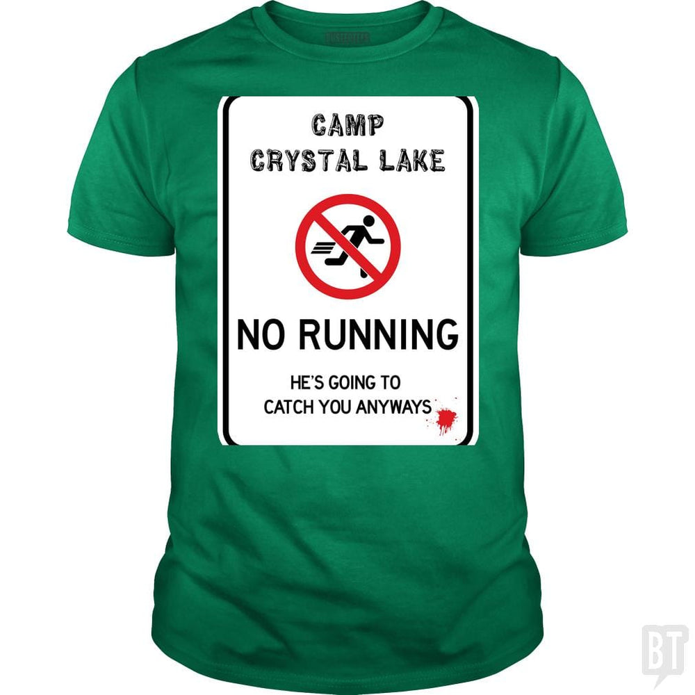 SunFrog-Busted Joefixit2 Classic Guys / Unisex Tee / Irish Green / S Camp Crystal Lake No Running