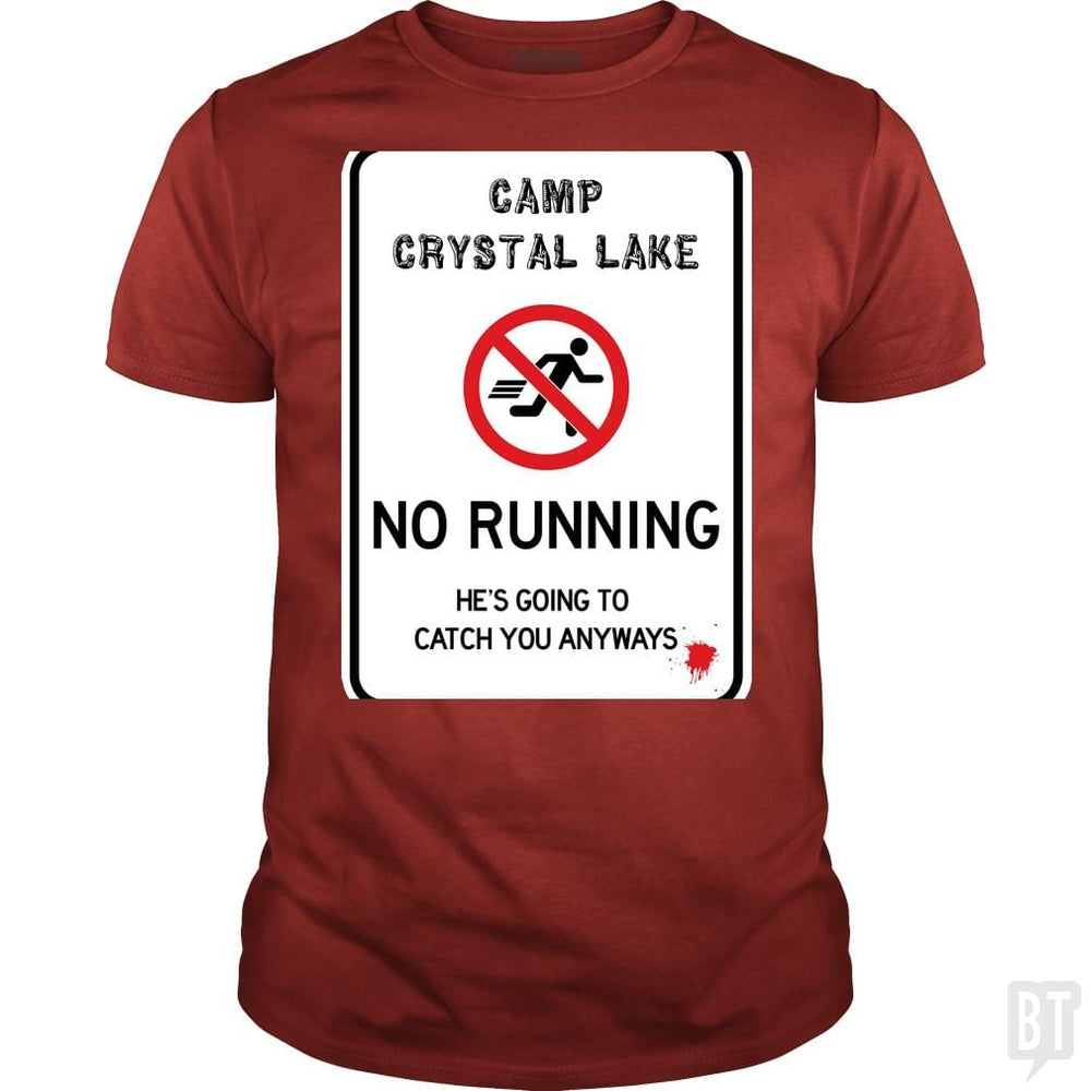SunFrog-Busted Joefixit2 Classic Guys / Unisex Tee / Red / S Camp Crystal Lake No Running