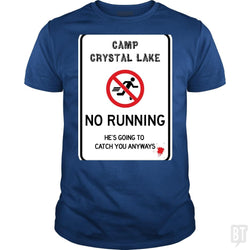 SunFrog-Busted Joefixit2 Classic Guys / Unisex Tee / Royal Blue / S Camp Crystal Lake No Running