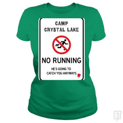 SunFrog-Busted Joefixit2 Classic Ladies Tee / Irish Green / S Camp Crystal Lake No Running