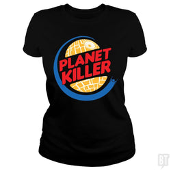 SunFrog-Busted Joefixit2 Classic Ladies Tee / Black / S Planet Killer