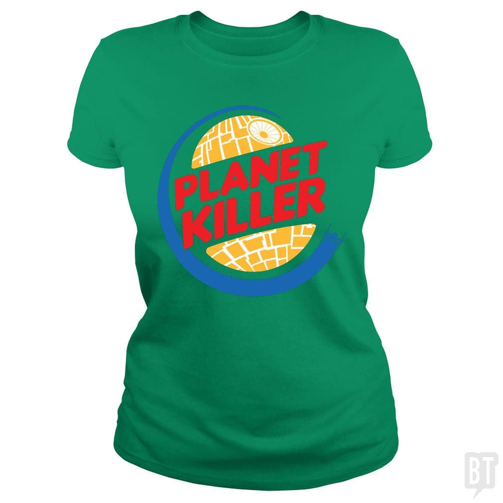 SunFrog-Busted Joefixit2 Classic Ladies Tee / Irish Green / S Planet Killer