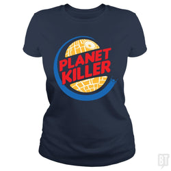 SunFrog-Busted Joefixit2 Classic Ladies Tee / Navy Blue / S Planet Killer