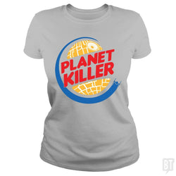 SunFrog-Busted Joefixit2 Classic Ladies Tee / Sport Grey / S Planet Killer