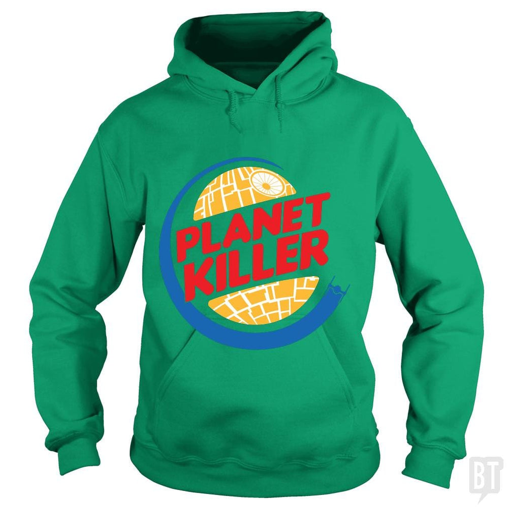 SunFrog-Busted Joefixit2 Hoodie / Irish Green / S Planet Killer