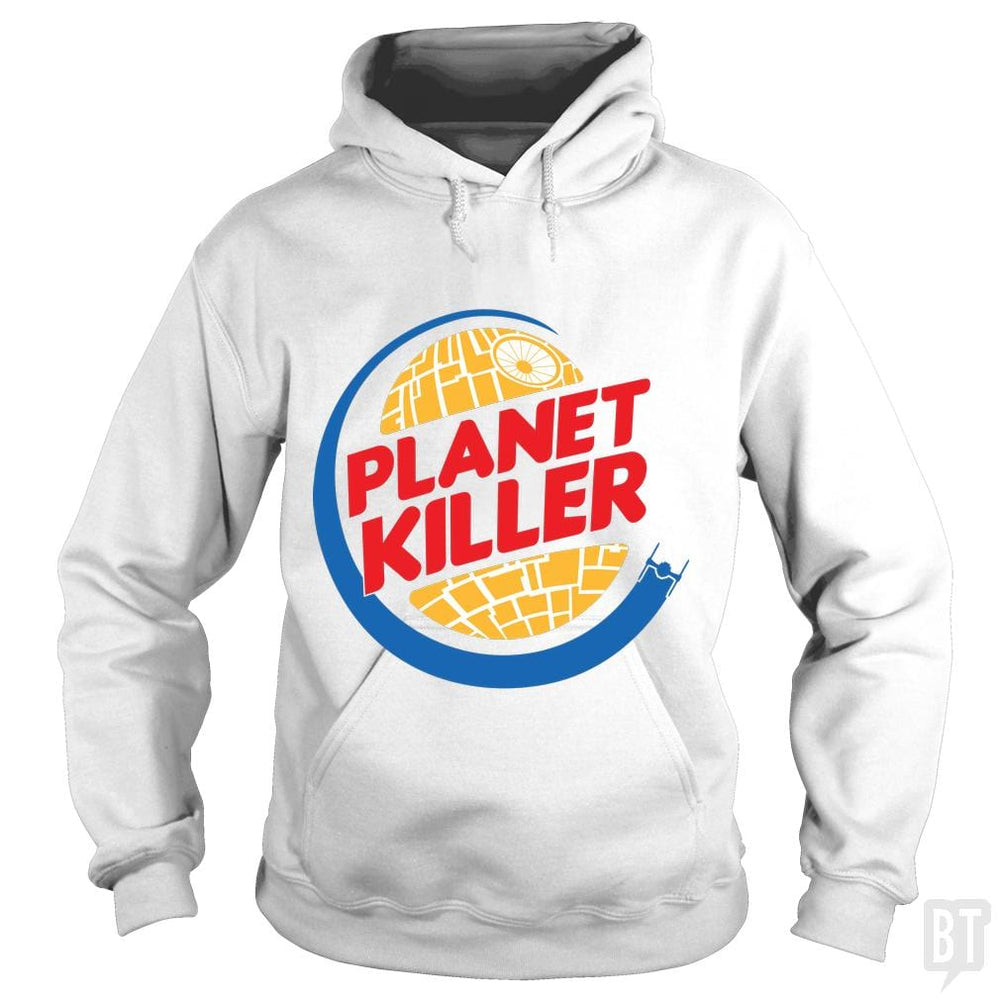 SunFrog-Busted Joefixit2 Hoodie / White / S Planet Killer