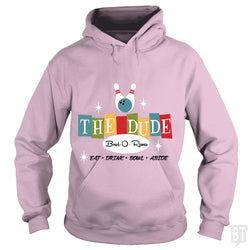 SunFrog-Busted Joefixit2 Hoodie / Light Pink / S The Dude Bowling