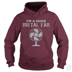 SunFrog-Busted KrawangArt Hoodie / Maroon / S I'm A Huge Metal Fan