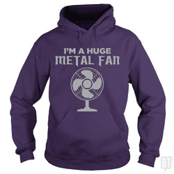 SunFrog-Busted KrawangArt Hoodie / Purple / S I'm A Huge Metal Fan
