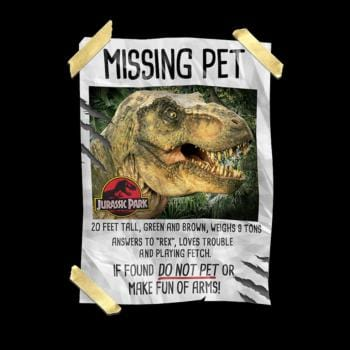 SunFrog-Busted Lewis Jurassic Park Missing Pet T-Rex