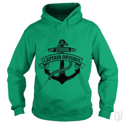 SunFrog-Busted LillJenn Hoodie / Irish Green / S Captain Obvious