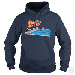 SunFrog-Busted Made With Awesome Hoodie / Navy Blue / S Swim Meat