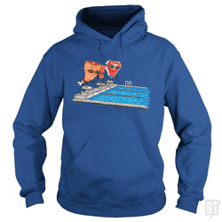SunFrog-Busted Made With Awesome Hoodie / Royal Blue / S Swim Meat