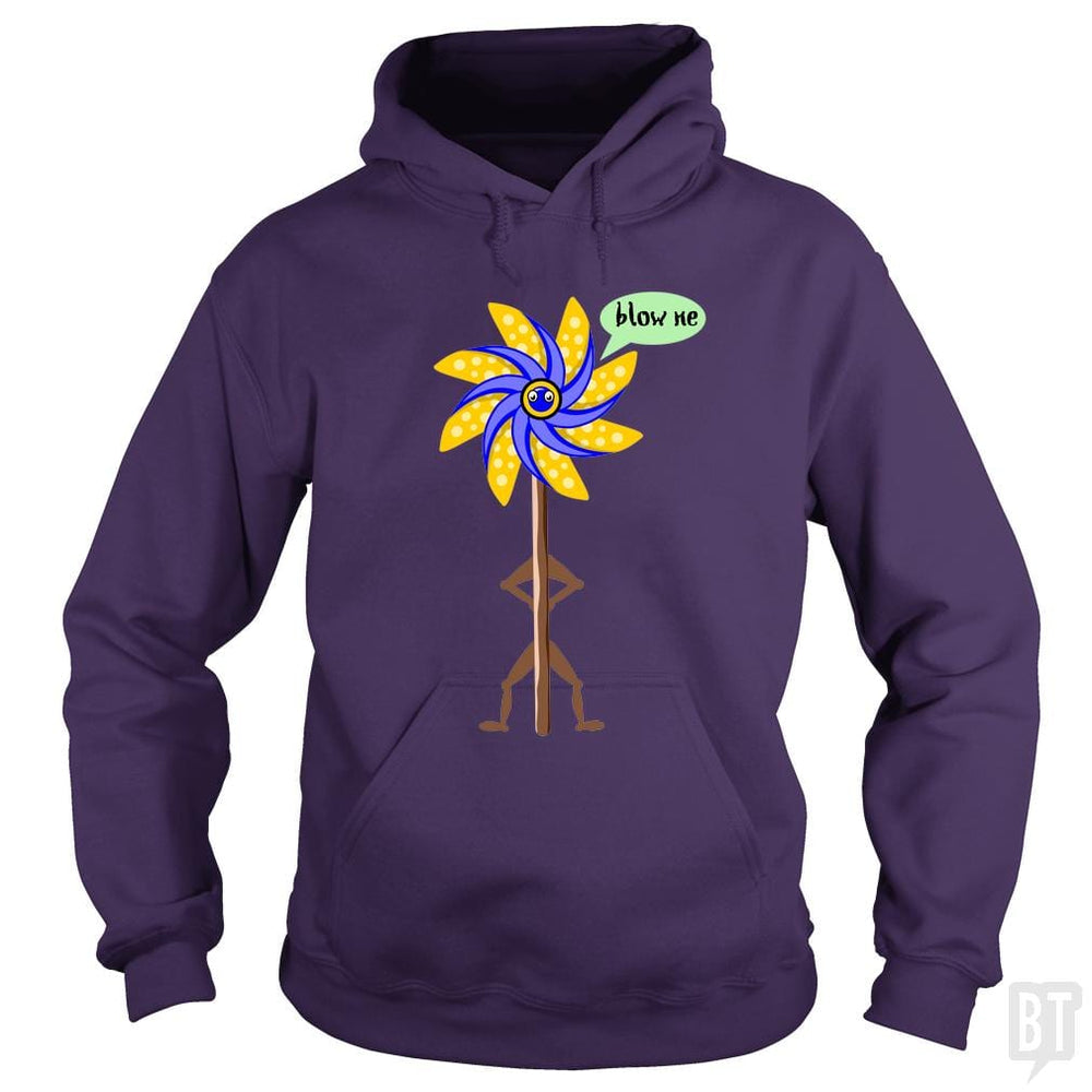 SunFrog-Busted mailboxdisco Hoodie / Purple / S Blow me