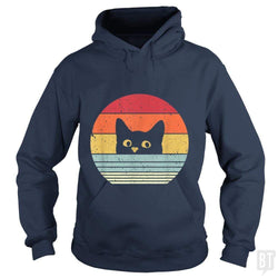 SunFrog-Busted Mr Candy Hoodie / Navy Blue / S Cat Shirt Retro Style
