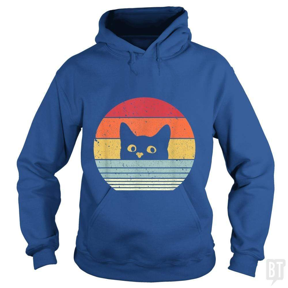 SunFrog-Busted Mr Candy Hoodie / Royal Blue / S Cat Shirt Retro Style