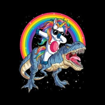 SunFrog-Busted Mr Candy Dabbing Unicorn Riding Dinosaur