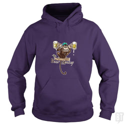 SunFrog-Busted MudgeWare Hoodie / Purple / S Beer Monkey Hoisting Two Pints