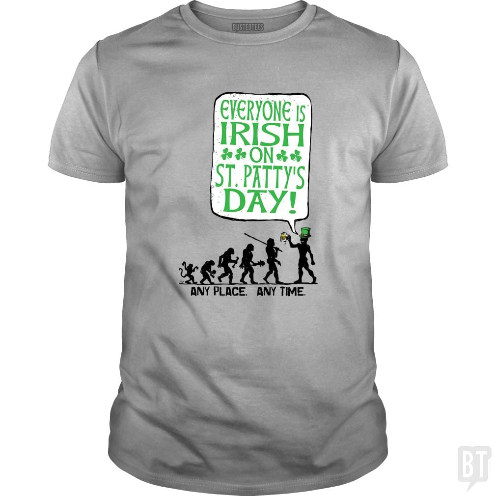 SunFrog-Busted MudgeWare Classic Guys / Unisex Tee / Sport Grey / S Everyone is Irish St. Patty's Evolution
