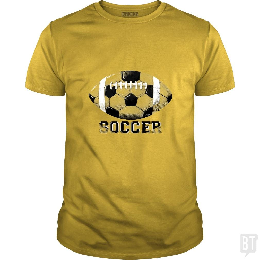 SunFrog-Busted MudgeWare Classic Guys / Unisex Tee / Daisy / S Funny Football Futbol No Soccer
