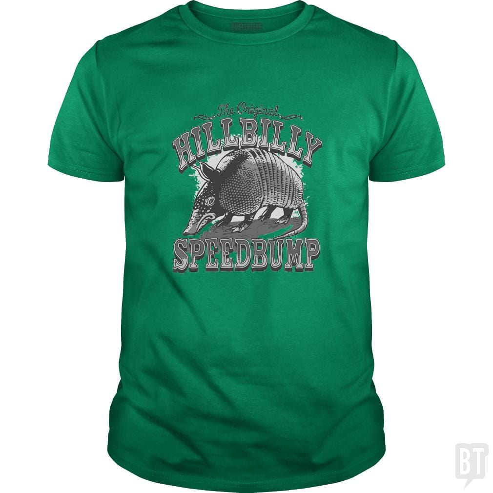 SunFrog-Busted MudgeWare Classic Guys / Unisex Tee / Irish Green / S Hillbilly Speedbump