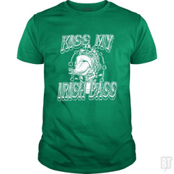 SunFrog-Busted MudgeWare Classic Guys / Unisex Tee / Irish Green / S Kiss My Irish Bass W