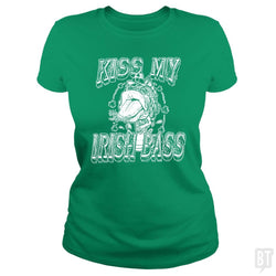 SunFrog-Busted MudgeWare Classic Ladies Tee / Irish Green / S Kiss My Irish Bass W