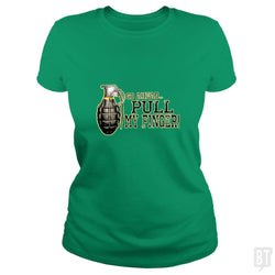 SunFrog-Busted MudgeWare Classic Ladies Tee / Irish Green / S Pull My Finger