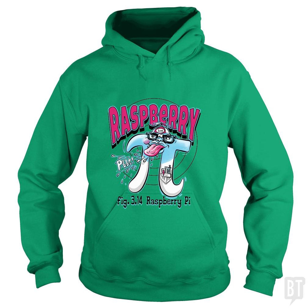 SunFrog-Busted MudgeWare Hoodie / Irish Green / S Raspberry Pi Day