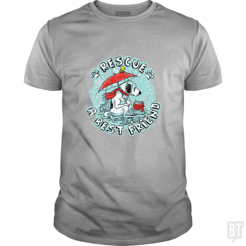 SunFrog-Busted MudgeWare Classic Guys / Unisex Tee / Sport Grey / S Rescue A Best Friend