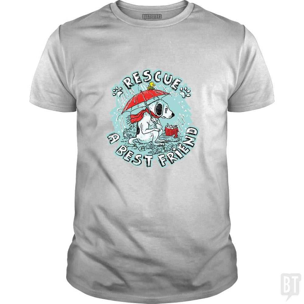 SunFrog-Busted MudgeWare Classic Guys / Unisex Tee / White / S Rescue A Best Friend