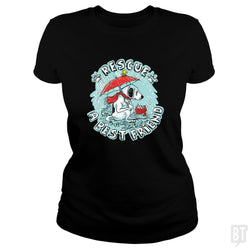 SunFrog-Busted MudgeWare Classic Ladies Tee / Black / S Rescue A Best Friend