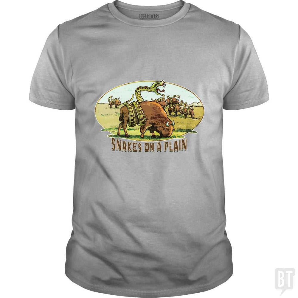 SunFrog-Busted MudgeWare Classic Guys / Unisex Tee / Sport Grey / S Save Snakes on a Plain