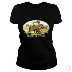 SunFrog-Busted MudgeWare Classic Ladies Tee / Black / S Save Snakes on a Plain