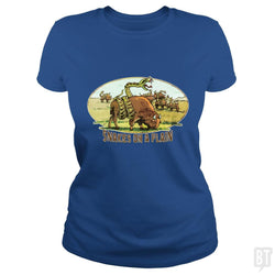 SunFrog-Busted MudgeWare Classic Ladies Tee / Royal Blue / S Save Snakes on a Plain