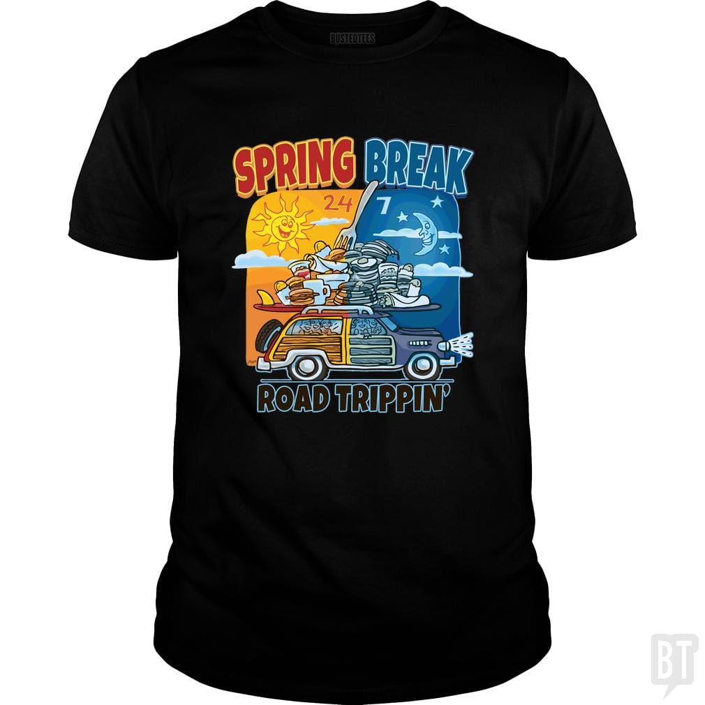 SunFrog-Busted MudgeWare Classic Guys / Unisex Tee / Black / S Spring Break Road Trippin'