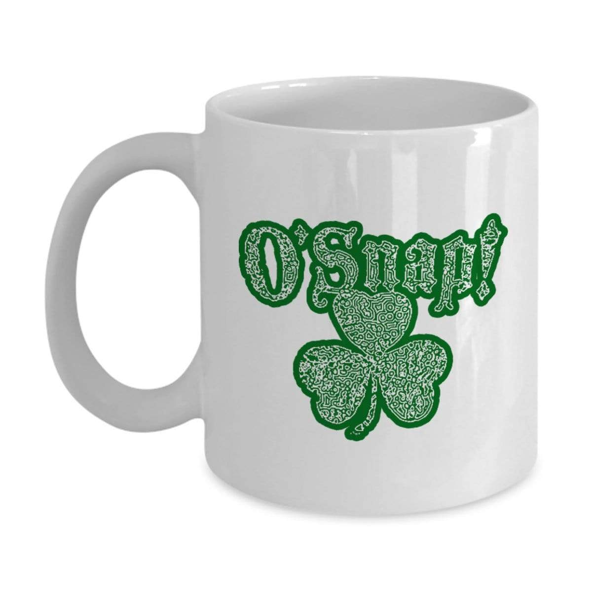 SunFrog-Busted MUG 11oz Mug / White O'Snap Irish Shamrock Mug